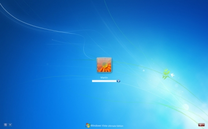 Tela do Windows Vista após a modificação