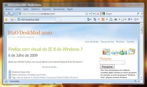 Firefox com o Vista Aero (Clique para ampliar)