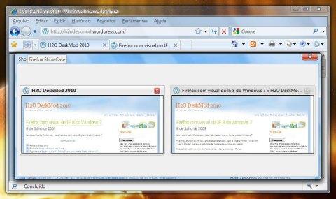 Firefox Showcase em ação (Clique para ampliar)