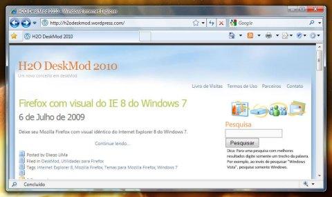 Firefox depois de instalado o Hide Menubar (Clique para ampliar)