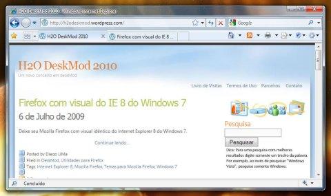 Firefox após o tutorial