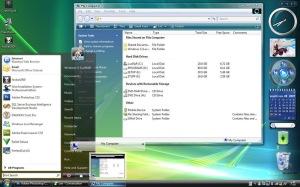 Exemplo do visual do Windows XP, após instalação