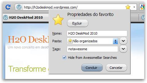 AwesomeBar do Firefox Usando NotAwesome