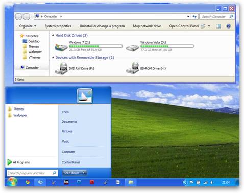 Windows 7 Igual XP