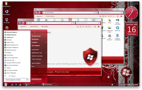 Windows 7 Product Red para Windows XP